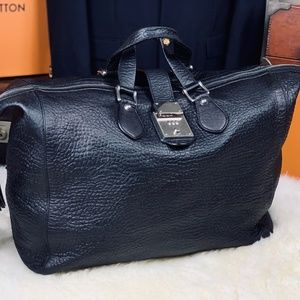 """Gucci Italy 17"""" Leather Travel Duffle Bag Mens"""